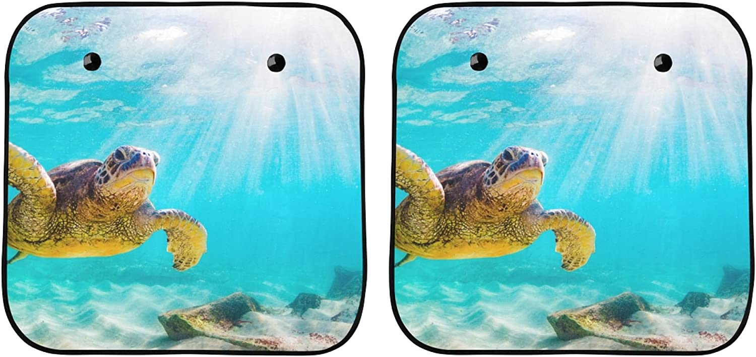 YPink Sun Rapid rise Car Window Shade Green Underw Sunburst Al sold out. Sea Turtle with