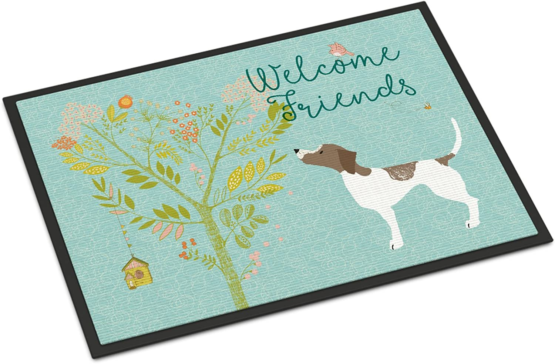 Caroline's Treasures Welcome Friends Pointer Doormat, 18hx27w, Multicolor