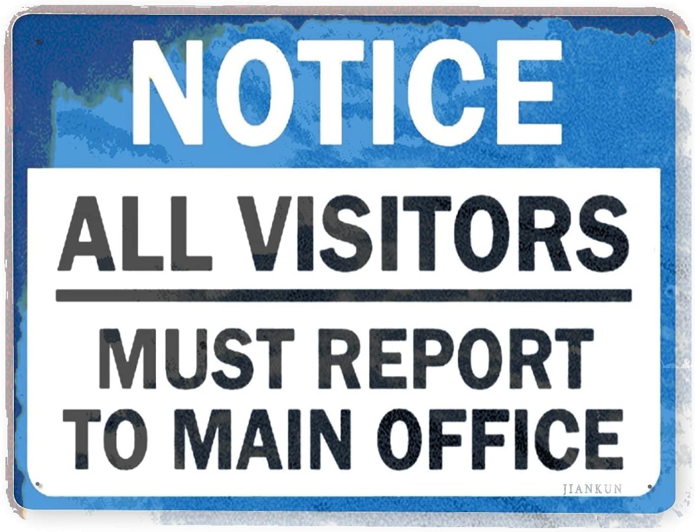 J.DXHYA discount Man Kansas City Mall Cave Decor 2 Pieces Warning Sign Rules All Visi