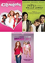 Wicked Threesome Teenage Mean Girls & Clueless & The Perks of Being a Wallflower DVD Fun School Comedy movie Set Combo Triple Feature Edition