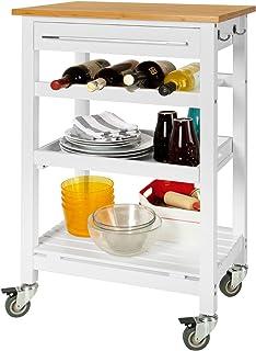 SoBuy® Carrito de servir, estantería de cocina, carrito de