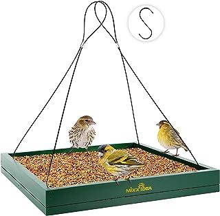 MIXXIDEA Bird Feeder Hanging Tray, Seed Tray Wooden Platform Hummingbird Feeder Hanging Tray Mesh Seed Platform for Garden...