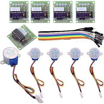 ELEGOO 5 Sets 28BYJ-48 ULN2003 5V Stepper Motor + ULN2003 Driver Board for Arduino