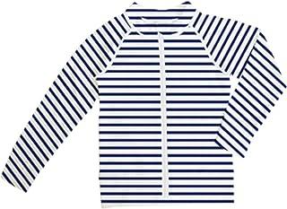 [アウニイ] キッズ ラッシュガード 軽量 速乾 UVカット 長袖 指穴付き オリジナルプリント 着る日焼け止め