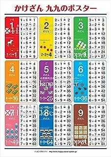 ハッピークローバー 【かけざん 九九ポスター】学習ポスター 99