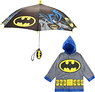 DC Comics Little Boys Batman or Superman Slicker and...