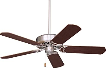 Emerson Ceiling Fans Cf755bs Designer 52 Inch Energy Star Ceiling Fan Light Kit Adaptable Brushed Steel Finish Amazon Com