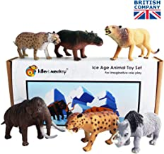 Ice Age Pre-Historic Plastic Toy Figures boxed set of 6 by Lello and Monkey