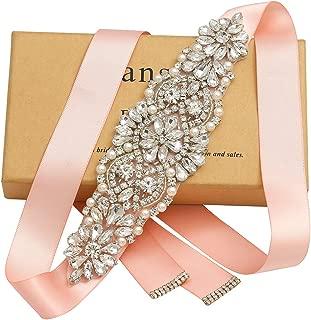 Yanstar Handmade Rhinestone Crystal Beads Wedding Bridal Belts
