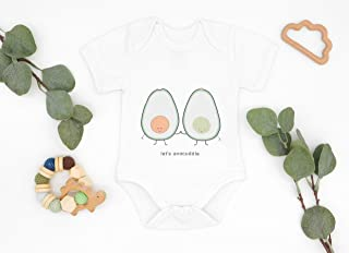 AVOCADO BABY OUTFIT, Half Sleeve Bodysuit, Baby Avocuddle Shirt, Unisex Baby Clothes, Modern Baby Outfit, Gift For Babies