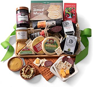 GreatArrivals Gift Baskets Gift Baskets Gourmet Artisan Platter: Meat & Cheese Gift,, (), 1 Count (Pack of 1)