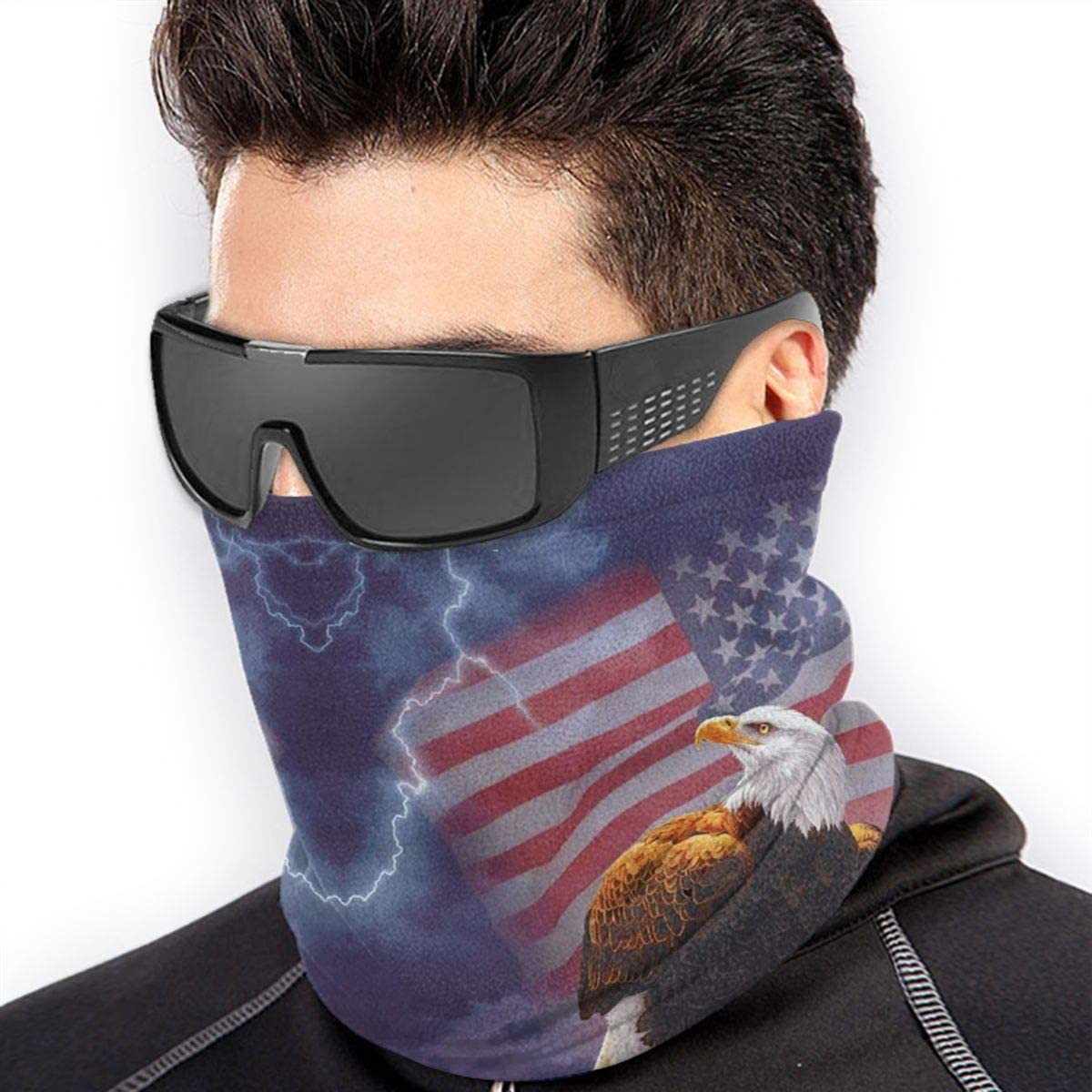 American Bald Eagle Neck Gaiter Headwear Headband Head Wrap Scarf Mask Neck/Ear Warmers Headbands Perfect For Winter Fishing, Hiking, Running, Motorcycle Etc& Daily Wear For Men And Women