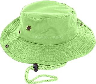 DealStock 100% Cotton Boonie Fishing Bucket Men Safari Summer String Hat  Cap (15+ 8457a3449508