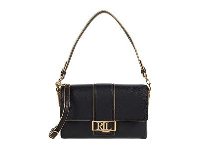 LAUREN Ralph Lauren Spencer 25 Shoulder Bag (Black/Nude) Handbags