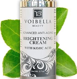 Skin Brightening Cream & Dark Spot Corrector Remover. Skin Lightening Fade Cream & Freckle, Age, Sun Spot & Acne Scar Remover For Face + Kojic Acid Whitening for Armpit, Underarm & Intimate Parts