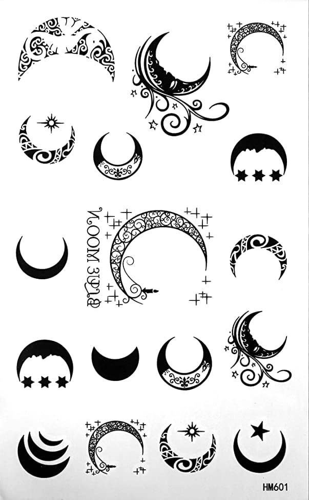 King Horse Moon Temporary Tattoos Waterproof Tattoo Stickers Moon Totem Star Fake Tattoos