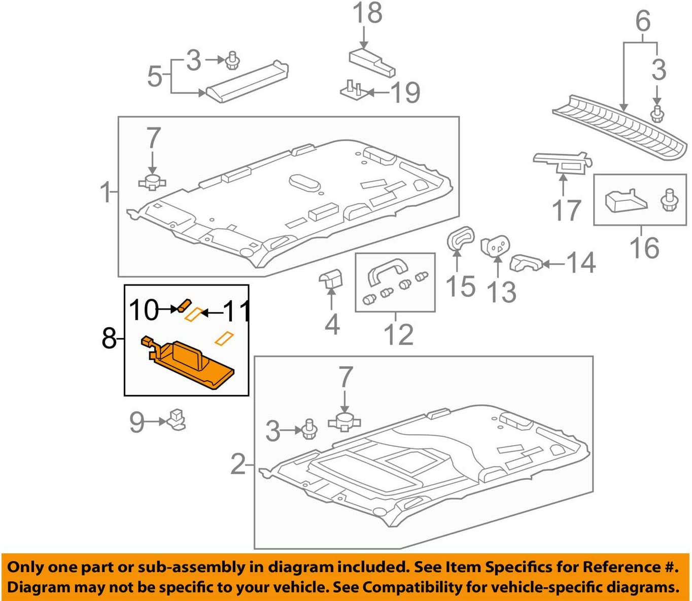 Honda Mesa Mall Genuine 83230-SZA-A01ZB Very popular Sun Assembly Visor Right