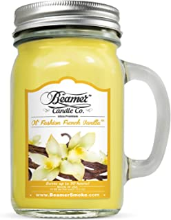 Beamer 12oz Ol' Fashion French Vanilla Scented Candle Co. Ultra Premium Jar Candle. 90 Hr Burn Time. USA Made