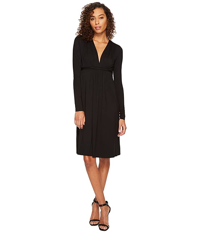 Rachel Pally Long Sleeve Caftan (Black) Women's Dress