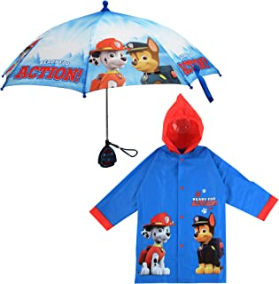 Little Boys Paw Patrol Character Slicker and Umbrella Rainwear Set, Age 2-7
