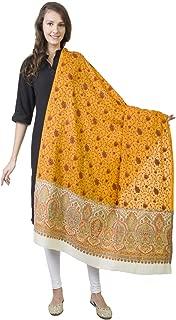 羊绒包裹 - La Vastraa 女士羊绒绣花披肩 - 披肩和包巾 适用于晚礼服