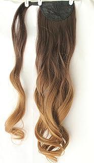 Extensión de pelo ondulado con clip de 50,8 cm de largo,