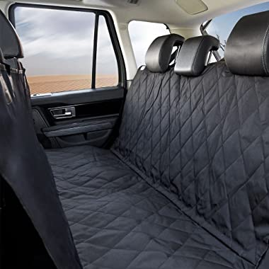Dog Pet Car Seat Cover, Waterproof, 2 Side Panels with Upgraded Carrying Bag