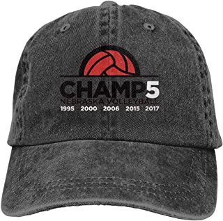 Celebrate Nebraska Volleyball and Their 5th National Championship! Denim Dad Hats Adjustable Baseball Cap