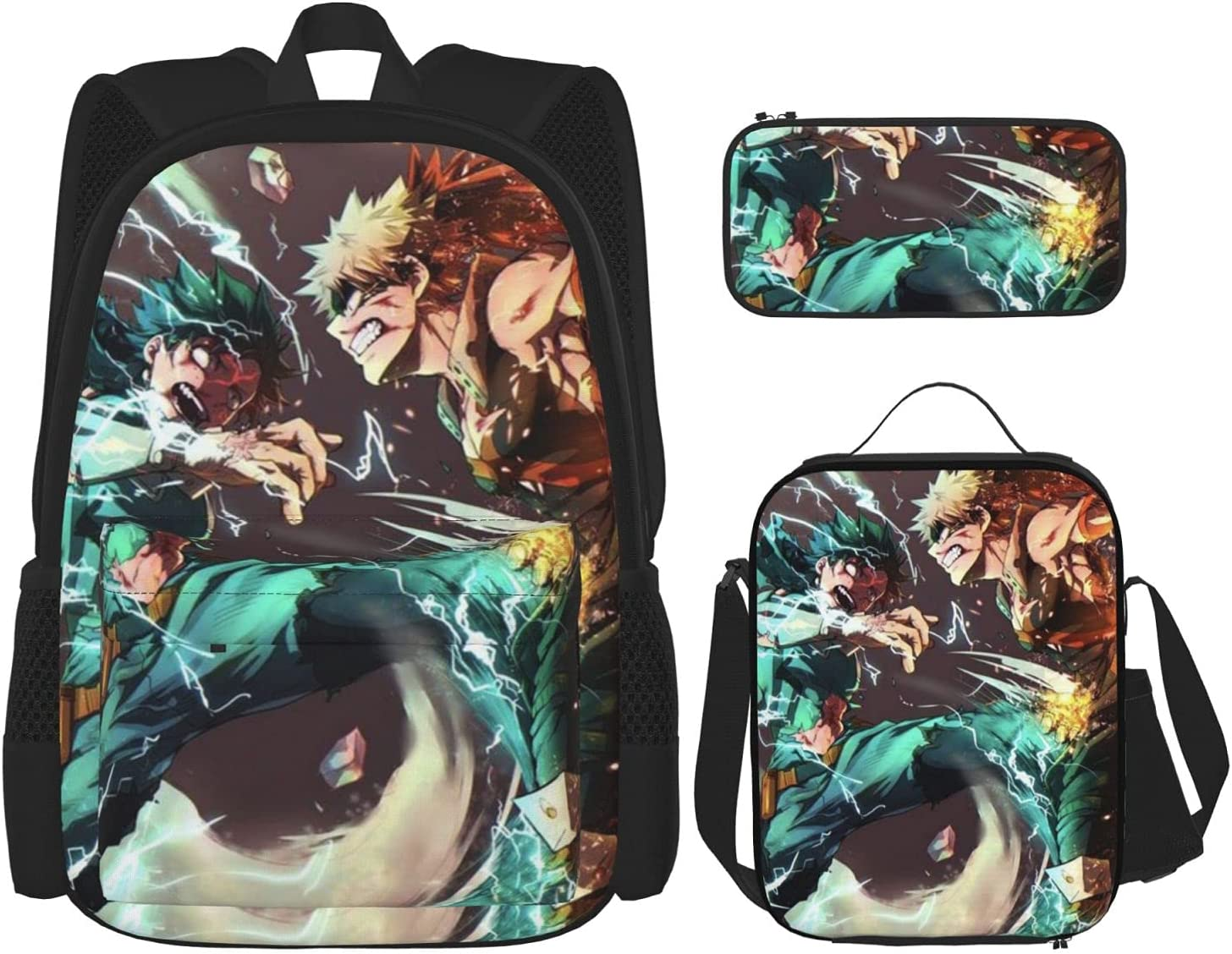 Anime Bakugou Katsuki Student Youth Los Angeles Mall 3 specialty shop Set Piece Backpack Wit