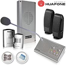 (Kit#1X) Automatic Drive Thru Intercom kit (Commercial Grade, Gen 2) + Vehicle Detector + Staff Listen-in HD Speakers + Drive Thru Signage Set + 90-ft Huafone-Engineered Wires