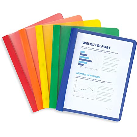 A4 Document Report Files Assorted Colours Niceday Pack Of 25