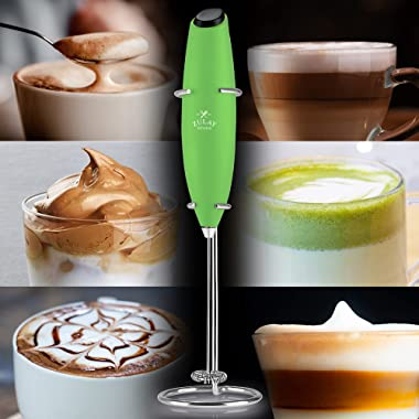 Zulay Classic Coffee Frother Electric - Battery Operated Coffee Blender Handheld - Easy To Use Coffee Whisk Frother - Portabl