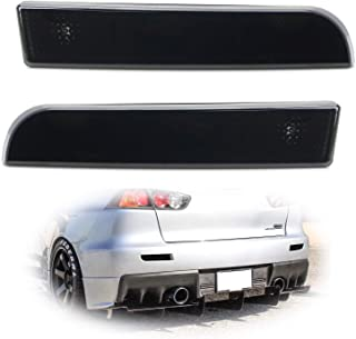 iJDMTOY Smoked Lens Rear Bumper Reflector Lenses For 2008-2016 Mitsubishi Lancer, Evolution Evo 10 X, OE-Spec LH RH Assembly