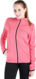 Dolcevida Women's Slim Fit Lightweight Workout Track Jackets Full Zip Windproof Running Athletic Jacket