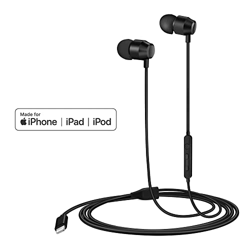 050a9ee1ac5 PALOVUE Earflow in-Ear Lightning Headphones Magnetic Earphones MFi  Certified Earbuds with Microphone Controller Compatible
