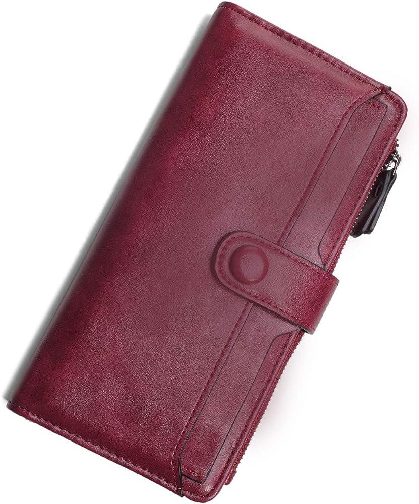 Vaschy portafoglio per donna portacarte di credito in pelle sintetica VAUKBP130