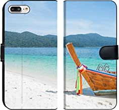 MSD Premium Phone Case Designed for iPhone 7 Plus and iPhone 8 Plus Flip Fabric Wallet Case Image ID: 20662779 Travel in Thailand by Long Tail Boat