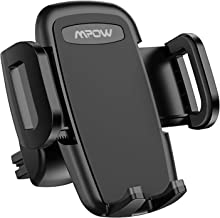 Mpow Car Phone Mount, Air Vent Phone Holder, 3-Level Adjustable Clip, Upgrade Clamp Arm, One Button Release, Rotatable Phone Mount Compatible iPhone 12 11 Pro MAX XS XR X 8 7 6Plus Galaxy S20 Etc