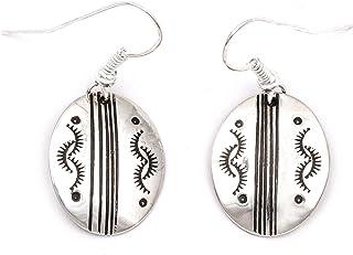 80 علامة صن ستارلينج أقراط من الفضة النافاجو الأصلية الأمريكية 27260-5 مصنوعة بواسطة لوما سيفا