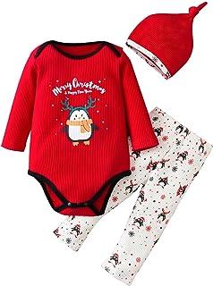 HINK Conjuntos y Conjuntos para niñas, bebés recién Nacidos, niñas, niños, Trajes navideños, Mameluco, Mono, Pantalones, S...