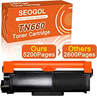 Seogol Toner Cartridge 5,200 Pages (50% More Contents) Replacement for Brother TN660 High Yield Toner TN630 to use with HL-L2340DW MFC-L2700DW DCP-L2540DW HL-L2300D HL-L2380DW MFC-L2740DW DCP-L2520DW