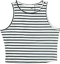 PERSUN Women's Sleeveless Basic Crop Tank Top