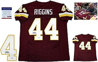 John Riggins Signed Custom Jersey - PSA/DNA - Autographed w/ Photo - Burgundy