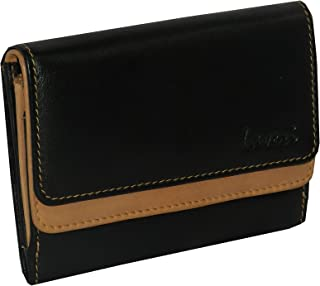 Laveri Black Leather For Women - Trifold Wallets