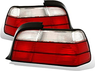 AmeriLite 2 Door Taillights Red/Clear for BMW 3 Series E46 - Passenger and Driver Side