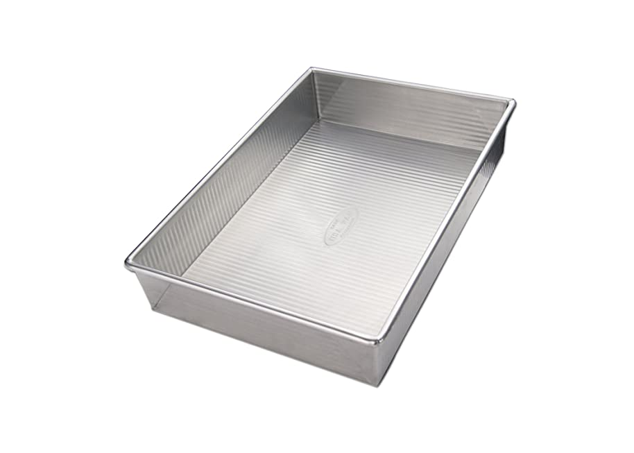 USA Pan 1110RC-BB-2-1 Bare Aluminum Rectangular Cake Pan
