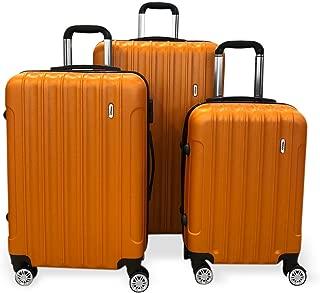 Todo Ultra Light Luggage Set 3Pcs Hard Shell Combination Locks (Orange)