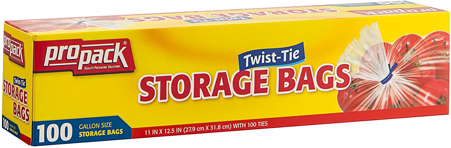 ProPack Disposable Indianapolis Mall Plastic Storage Bags Original Twist Tie All items in the store with