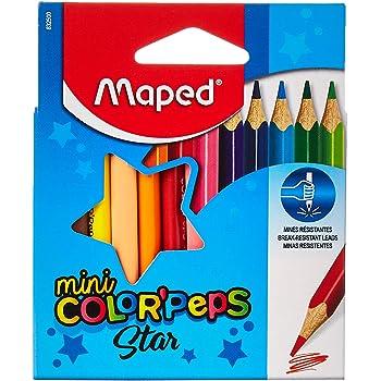 Maped ColorPeps Crayons de Couleur Maxi pour Enfants Premiers Crayons de Coloriage pour B/éb/é 2 ans Bo/îte de 12 crayons Jumbo Assortis