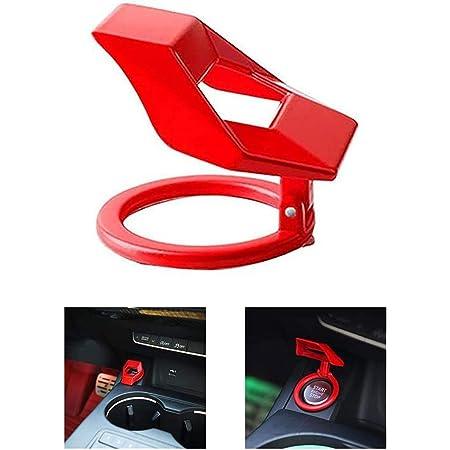 Yongirl Car Start Engine Stop Button Cover Trim Red Zündknopf Dekorring Aufkleber Auto Startknopf Deckel Auto Motor Start Stop Taste Druckknopfabdeckung Sport Freizeit